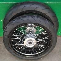 Paket Banset Supermoto ban corsa r46 KLX Dtracker 150