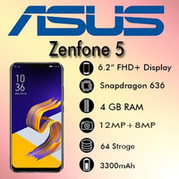Asus Zenfone 5 ZE620KL RAM 4GB/64GB Garansi Resmi ASUS
