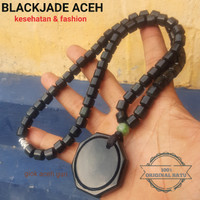 free rough bahan kalung blackjade berkhasiat dan fashion