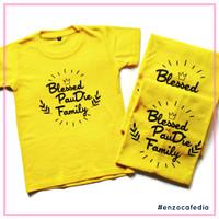 Kaos Keluarga Motif Nama 5  Gratis Ganti Nama   Poliflex   EnzoCafedia