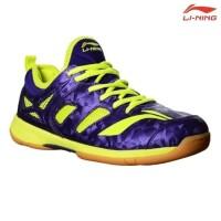 Clear Sale !!! Sepatu Badminton Lining Brio II AYTM091-4 Purple / Lime