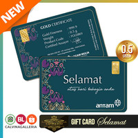 Emas Antam 0,5 Gram Gift Series - Gift Card Selamat