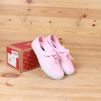sepatu sneakers vans authentic knotted pink white