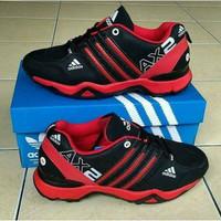 Sepatu Pria Adidas Ax2 hitam Merah / Running / Tracking / Outdoo