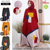 Baju Gamis Santai Trendy Bahan Kaos - all size fit to XL