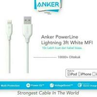 Kabel Data Anker PowerLine iPhone Usb Lightning 3ft / 0.9m High Speed - Putih