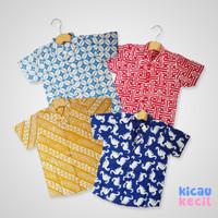 PopKids Shirt – Indra, Nala, Wisnu, Dino Kemeja Batik Anak