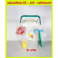 Aquarium Es Kelapa BESAR 15 LITER  Aquarium Es Buah   Toples Es Kelapa