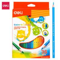 DELI Colored Pencil Triangle Soft Basswood Rich 36C [EC00230] - Pensil