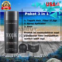 Toppik 27.5 Gr - Free Spray Applicatorr And Hairline Optimizer Seperti