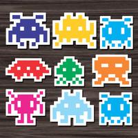 Stiker/Sticker Space Invader untuk Laptop, Mobil, Koper, dll