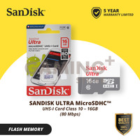 Sandisk Micro SD 16GB Class 10 80MB/s