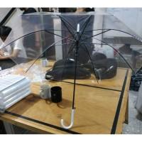 Transparan Payung 75cm Bening Transparant PVC Korea Japan Style
