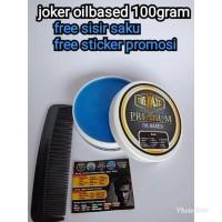 Terlaris Pomade oilbased djoker 100gr free sisir bebas pilih 15 aroma