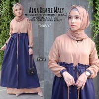 Baju Muslim Wanita Terbaru AINA REMPLE MAXY Bagus Kekinian Trendy 2019