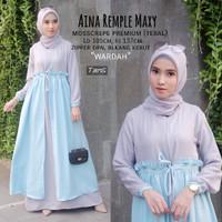 Baju Muslim Wanita Terbaru AINA REMPLE MAXY Trendy Syari 2019