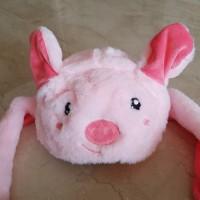 bunny hat dance topi kuping berdiri pig dan panda