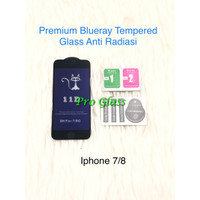 Iphone 7 / 8 Anti Blue Ray / Blue Light Radiation Tempered Glass