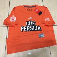 Kaos Bola Futsal Persija Specs Tee Shirt Orange Original 100%