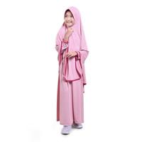 BAJUYULI Baju Muslim Gamis Anak Perempuan Jersey Syar'i Salem - JSS01