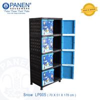 Lemari Plastik Kabinet 4 tingkat Snow LP005 Merk Panen Houseware