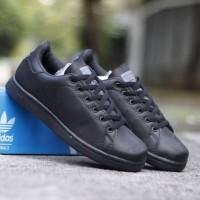 Sepatu Casual Adidas Stan Smith All Black Pria