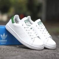Sepatu Casual Adidas Stan Smith White Green Unisex