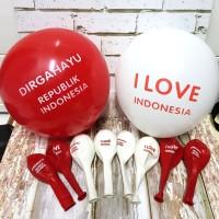 Balon Latex Dirgahayu RI/ Balon I Love Indonesia/ Balon HUT RI