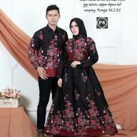 baju batik couple gamis model terbaru - sarimbit keluarga seragam