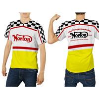 Baju Kaos Dewasa Jersey Motor Motocross Trail Drag Race Racing NORTON