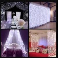 lampu led hiasan kamar dekorasi gorden pesta nikah ulang tahun