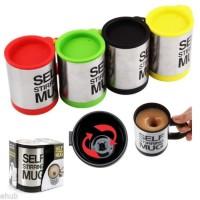 Gelas mug self stirring aduk Otomatis Stainless steel Coffee Magic The