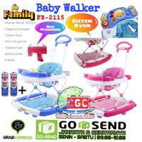 Family Baby Walker Seri Rolex FB 2115 Khusus Gojek Ayun Musik Lampu