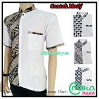 Baju Kemeja Koko Hem Batik Pria Aneka Motif