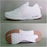 Sepatu wanita putih polos Nike kest Sneakers Sport kasual santai jalan
