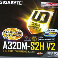Gigabyte GA-A320M-S2H V2 (AMD B350, AM4,DDR4) Support Overclocking CPU
