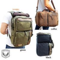BOURZU KANE 3 in 1 Tas kanvas Ransel Laptop - Messenger - Handbag