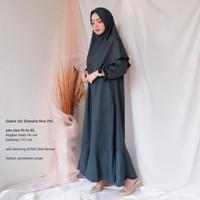 ELLIPSES.INC Gamis Set Model Terbaru 2019/Gamis Set Wanita Diandra