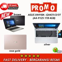 ASUS X441BA A4-9125 1TB 4GB 14 W10 BROWN SILVER ROSEGOLD