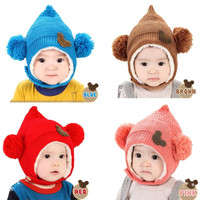 Topi Kupluk Anak Bayi Rajut - Mickey Elf / Miki Peri Knit Wool