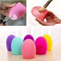 [BISA COD] Brush Egg Pembersih Kuas Makeup - Pembersih Kuas Make Up
