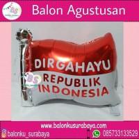 Jual Balon foil dirgahayu 17 Agustus bentuk bendera