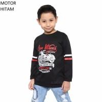 Baju Kaos Anak Cowok Cewek Lengan Panjang Motor Murah