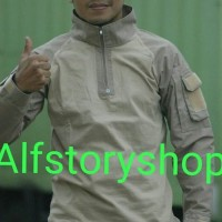 Kaos BDU Pria Wanita Tactical Baju Pakaian Panjang Army Hangout Gunung