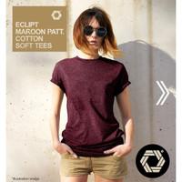 Eclipt T-shirt Wanita Polos - Kaos Cewek Lengan Pendek Threetone