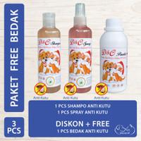 D&C Shampo & Spray Anti Kutu Free Bedak Anti Kutu Anjing & Kucing