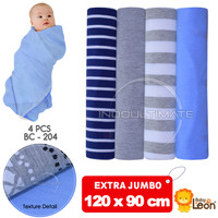 JUMBO bedong bayi isi 4pcs 120x90cm selimut bayi baby leon bc-204