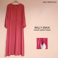 Gamis Long Dress Baju Muslimah Hamil Dan Menyusui Willy Maxi