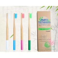 Bamboo Toothbrush Sikat Gigi Bambu - per SET isi 4 pcs