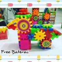 Funny Gear Brick - FREE BATERAI - Mainan Lego Roda Kreatif Edukatif